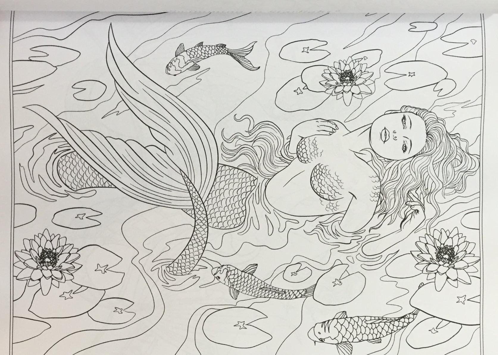Mythical Mermaids Fantasy Adult Coloring Book Fantasy Coloring