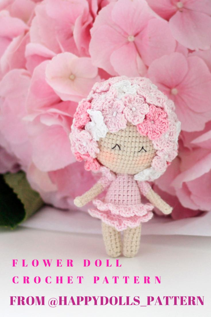 CROCHET PATTERN doll Hortenzia PDF toy mother day flower | Etsy