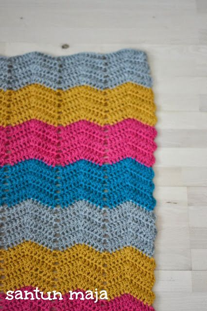 Santun Maja: croched chevron baby blanket