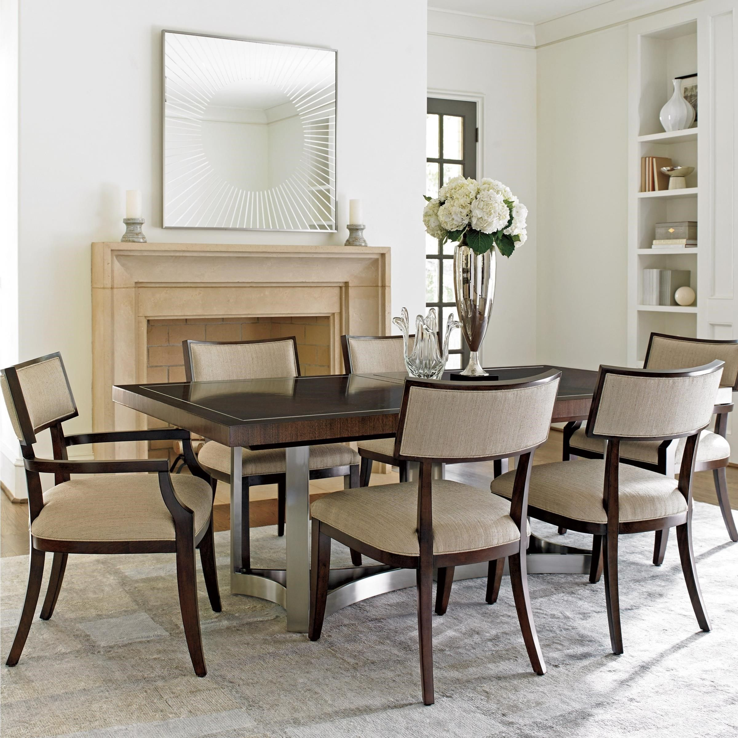 MacArthur Park Seven Piece Dining Set With Beverly Place Table And Whittier Chairs By Lexington At