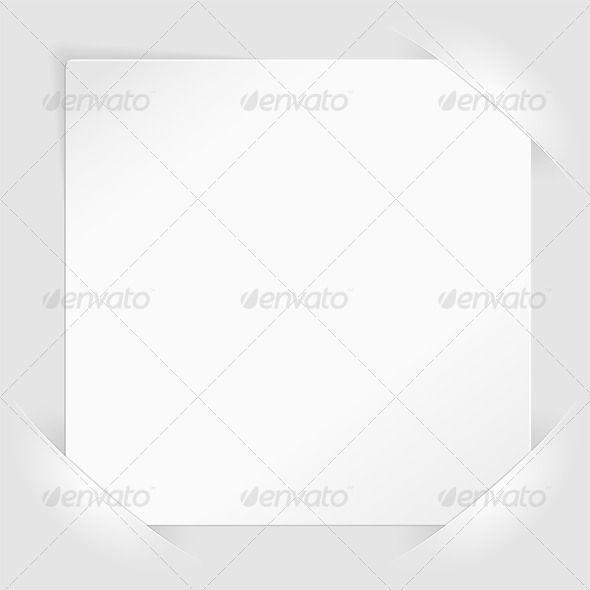 Sheet of white paper mounted in pockets White paper, Template - white paper template