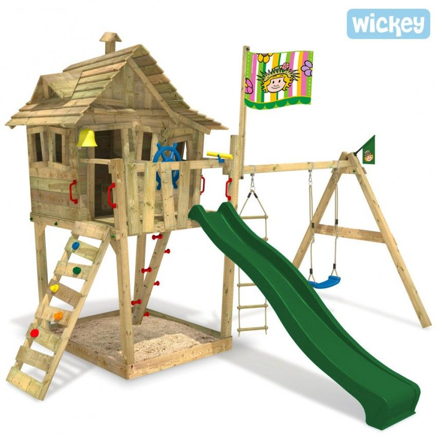 baumhaus wickey monkey island garten balkon play houses diy playground und backyard play. Black Bedroom Furniture Sets. Home Design Ideas