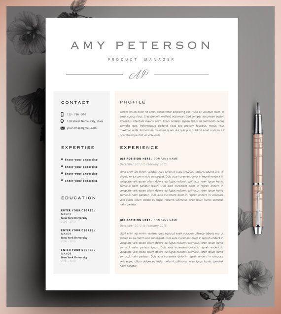 Creative Resume Template Cv Template Instant By Cvdesignco On Etsy Creative Resume Templates Resume Layout Creative Resume
