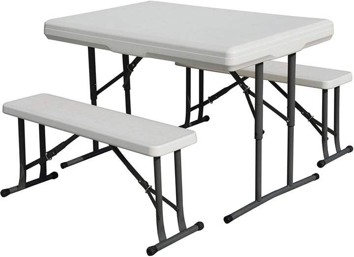 Stansport Folding Table With Bench Seats Table Bench Set Table With Bench Seat Folding Picnic Table