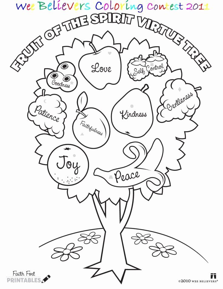 Fruits Of The Spirit Coloring Page Elegant Fruit Of The Spirit Colouring  Page Christian Children In 2020 Fruit Coloring Pages, Bible Coloring  Pages, Christian Coloring