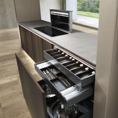 Hotte de cuisine tiroir   avec éclairage intégré ARTE by Marco Piva