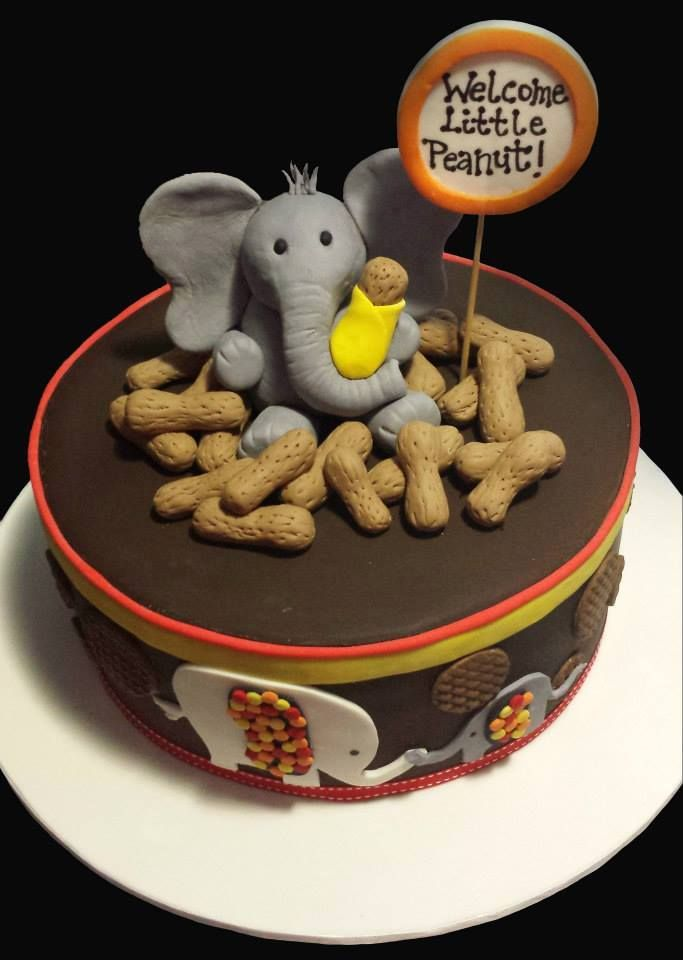 Peanut elephant cake