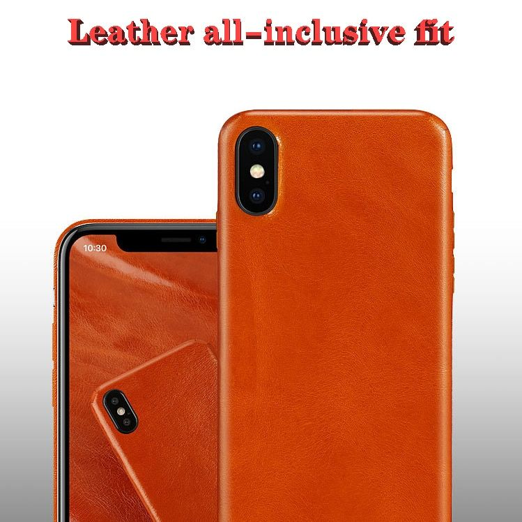 Calf leather phone cases for iphone x xs xr xs max ultra