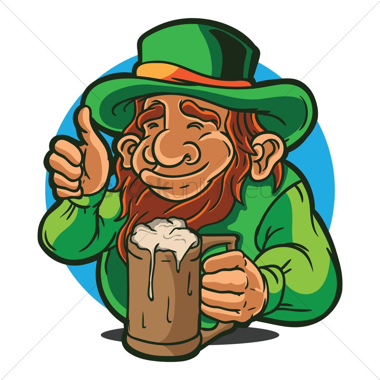 Lederhosen holding beer mug vectors stock clipart