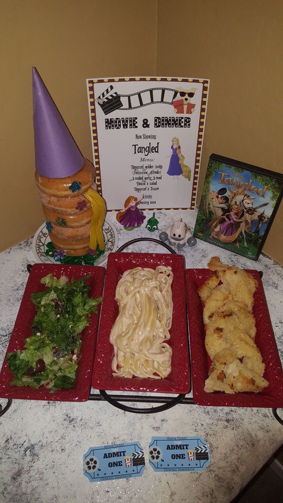 Tangled Movie Night Disney Movie Night Food Disney Movie Night Dinner Movie Night Dinner