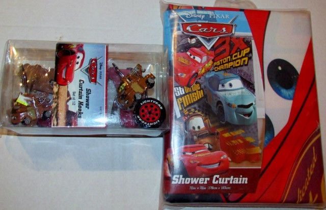 This Disney Pixar Cars Shower Set Will Delight Your Little One Includes Curtain Which Features Characters Lightning McQueen Finn McMissile And