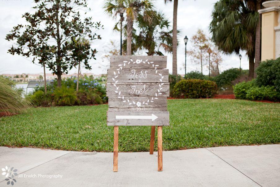 Jill Erwich Photography - South Florida Photographer, wedding sign, rustic wedding