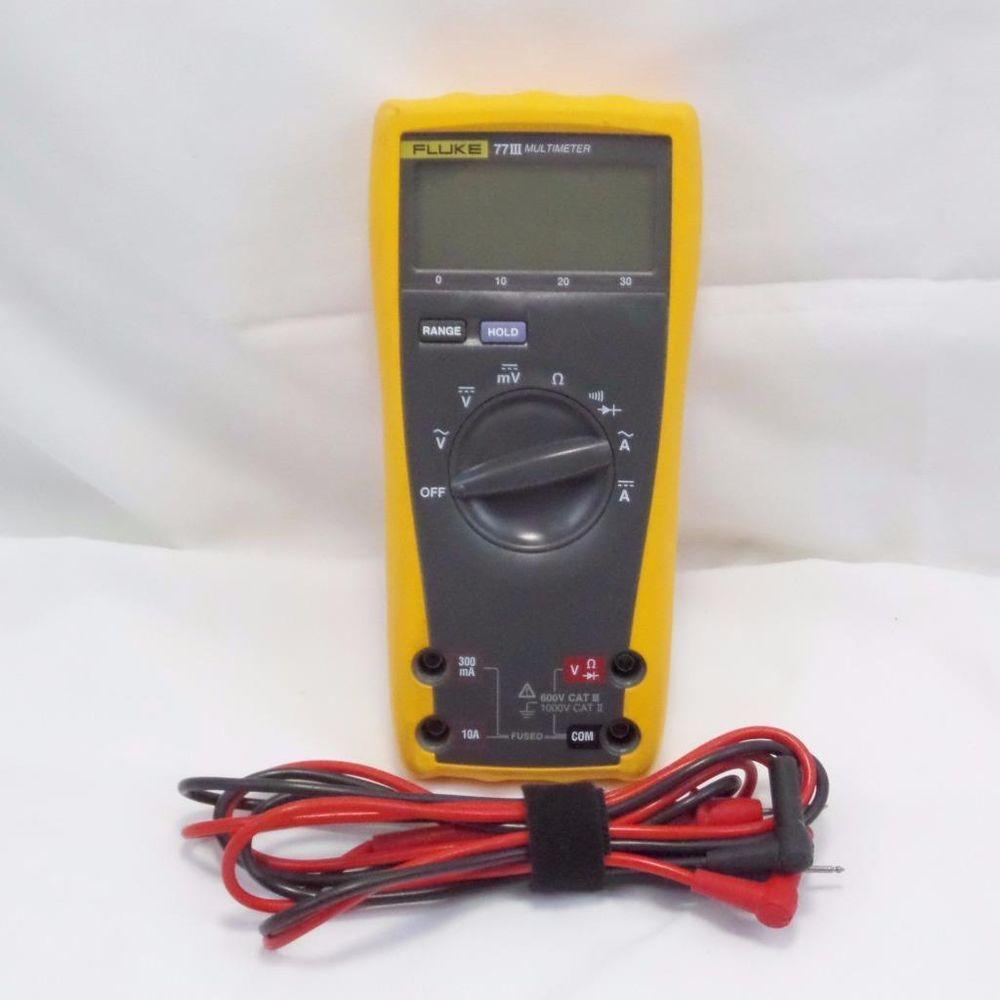 Fluke 77iii Series 3 True Rms Digital Multimeter With Test Leads Professional Multimeter Tools For Sale Digital