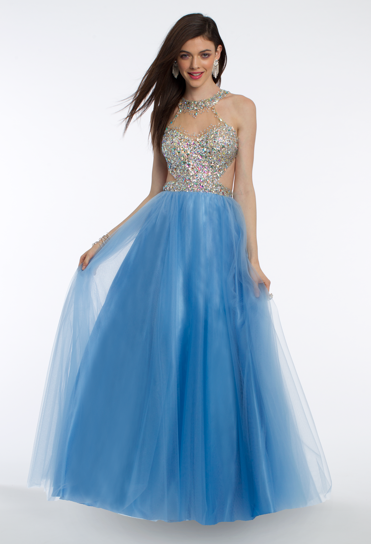 This sparkling ballgown dress is fairy-tale style with a twist ...