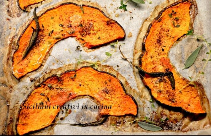 Zucca confit (al forno con erbe e spezie) | SICILIANI CREATIVI IN CUCINA | di Ada Parisi