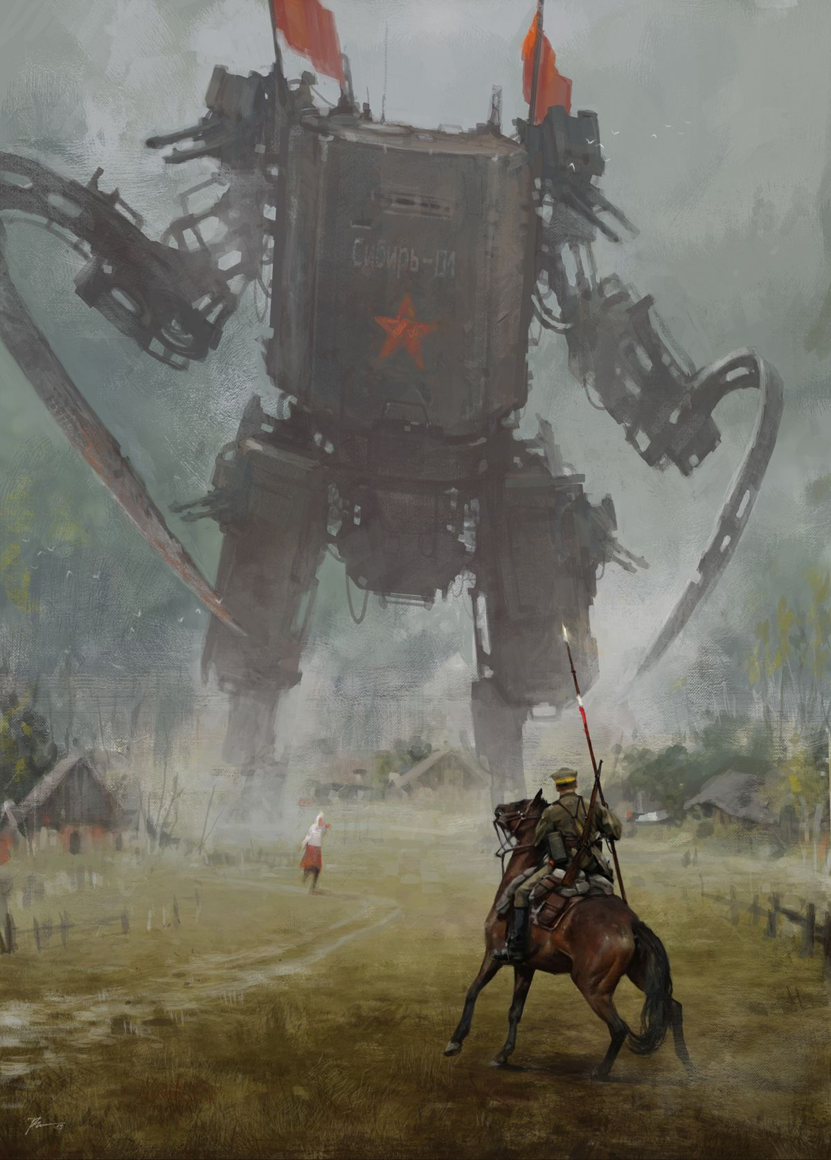 Jakub Różalski erfindet den polnisch-sowjetischen Krieg neu—mit riesigen Robotern