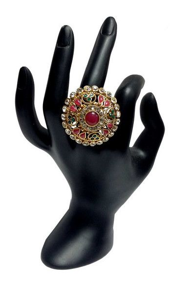 Bague Royale Indienne - Multicolore Indian Beautiful Queen ring for 10€