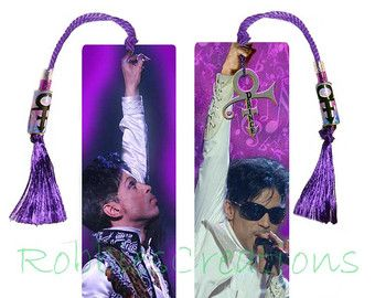 PRINCE BOOKMARK Large w/Tassel-Themed of his by RobbiesCreations