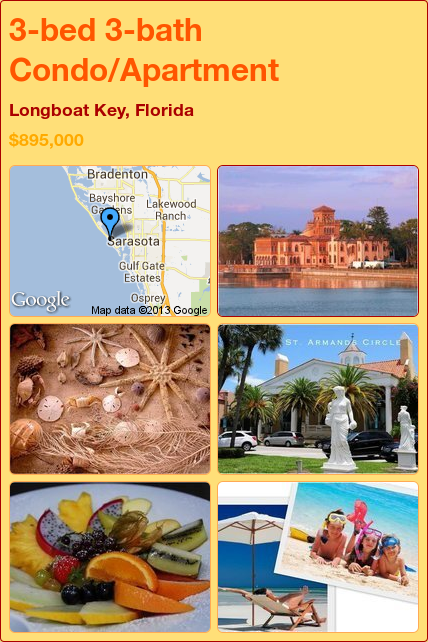 3-bed 3-bath Condo/Apartment in Longboat Key, Florida ►$895,000 #PropertyForSale #RealEstate #Florida http://florida-magic.com/properties/7466-condo-apartment-for-sale-in-longboat-key-florida-with-3-bedroom-3-bathroom