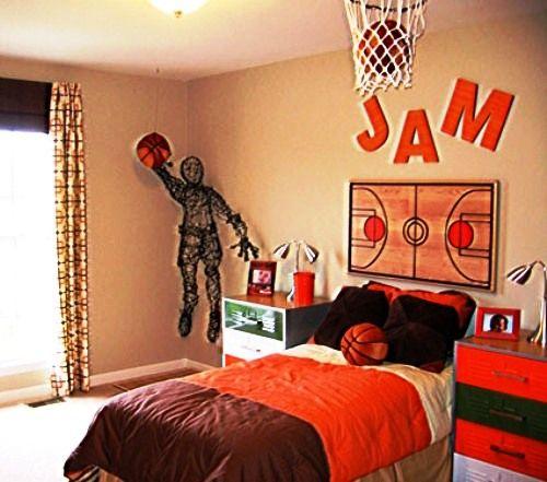 Boys basketball bedroom keaton 39 s bedroom ideas for Basketball bedroom ideas
