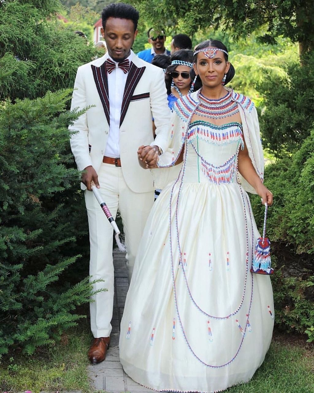 "3424cb1a7e5 forafricans  ""An Oromo bride and groom in contemporary Ethiopian wedding  attire. Addis Ababa"