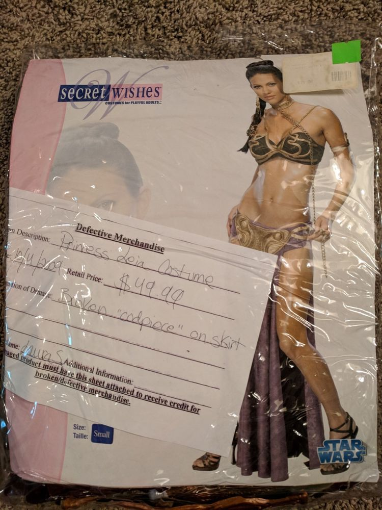 3002d14f22 Star Wars Slave Costume Princess Leia Secret Wishes Size Small S Very Sexy   fashion