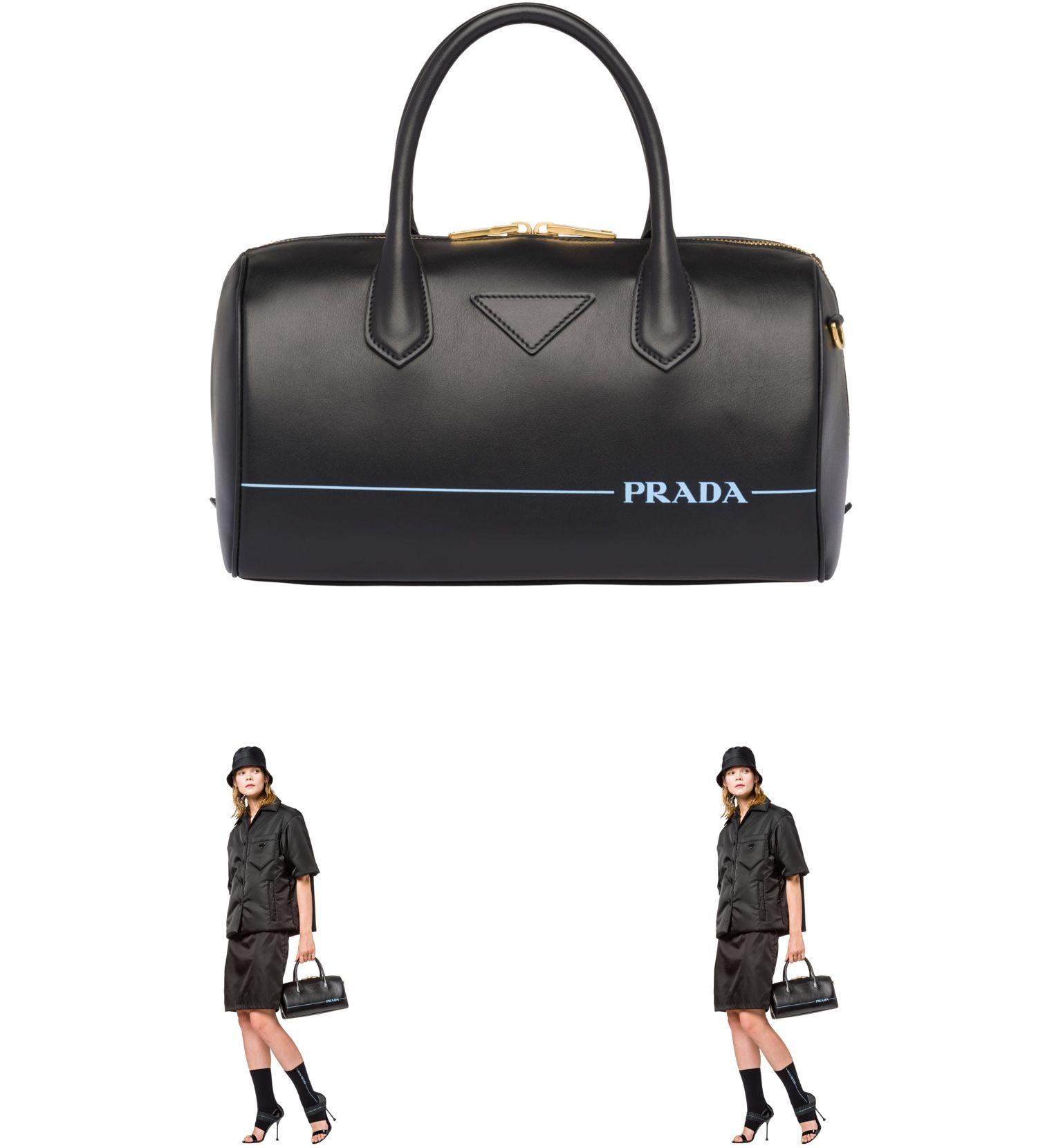 267fe4ebf6a3b4 FrenchEconomie™ Fall Fashion 2018 Purses and Handbags: The Prada Black  Mirage Leather Duffle