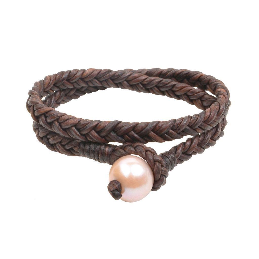 pink double wrap flat braid bracelet pink pinterest