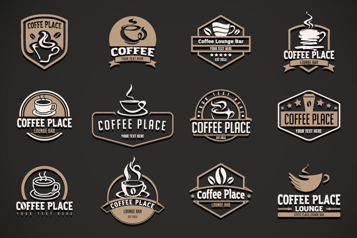 12 coffee logo templates. By Artha Graphic Design Studio