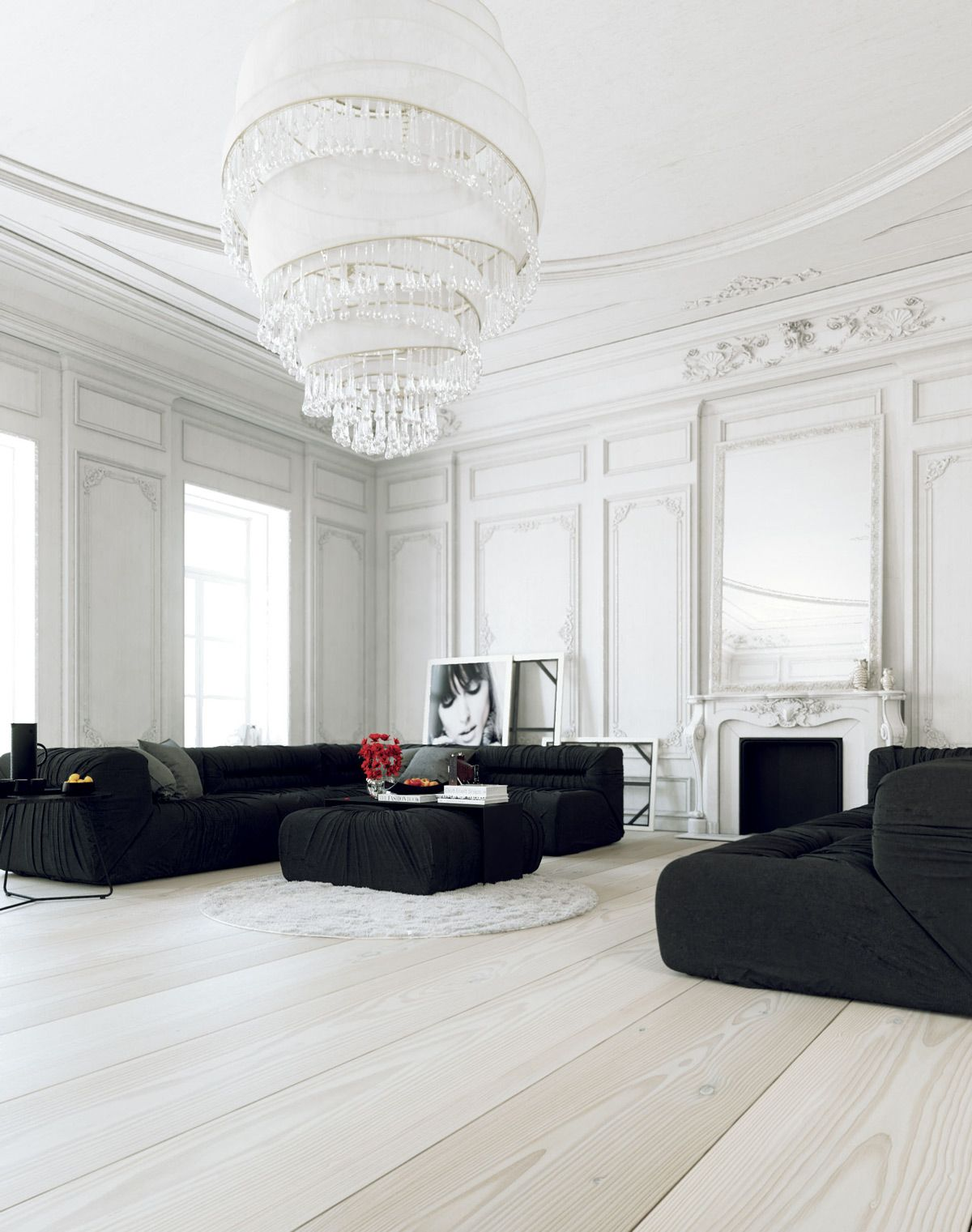 Black and White Living Room Designs With Trendy and Perfect Decor ...