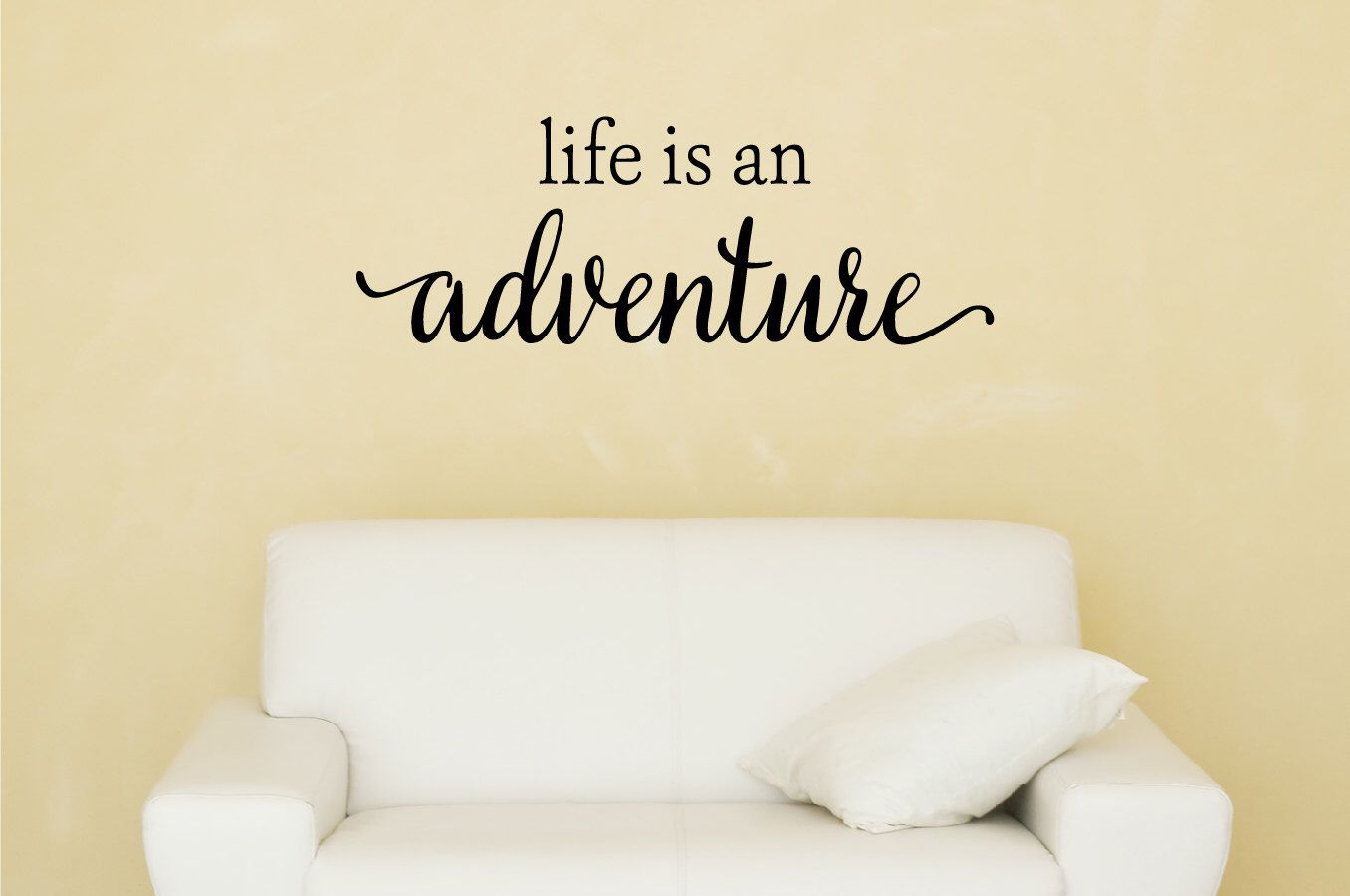 Life Is An Adventure Wall Decal - Inspirational Quotes - Nursery ...