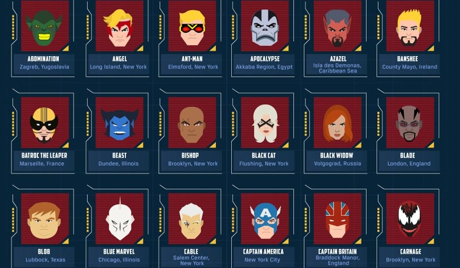 Face Front, True Believers — It's the Map of Marvel Heroes ...