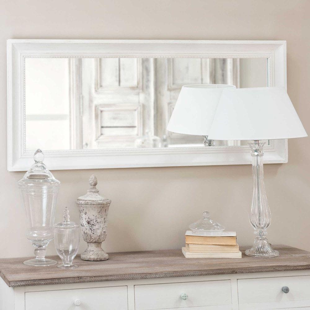 Fir Wood Mirror in Ecru 54x130 | my bedroom | Wood mirror ...