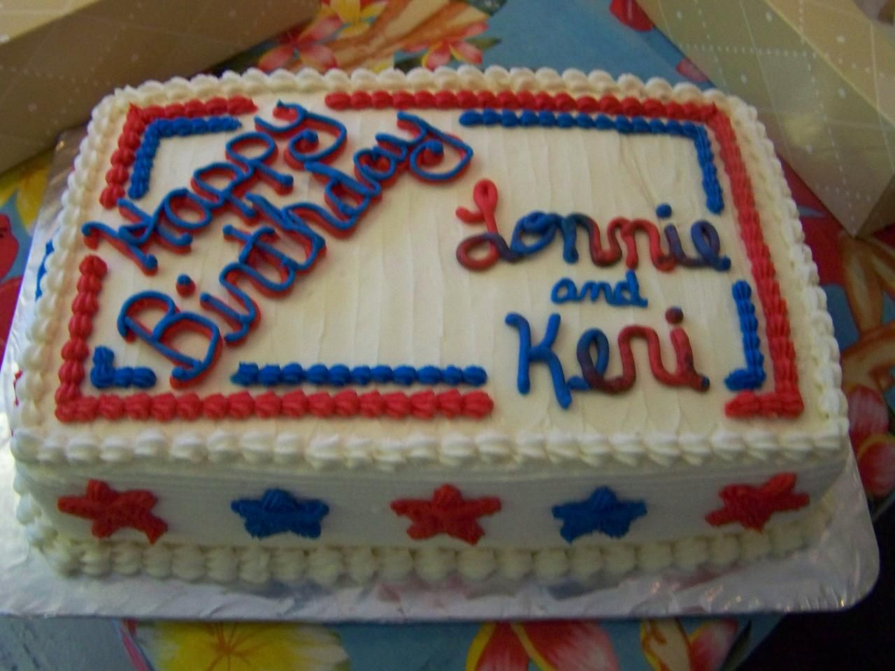 Red White Blue Birthday Cake Custom Cakes For Any Occasion Bring