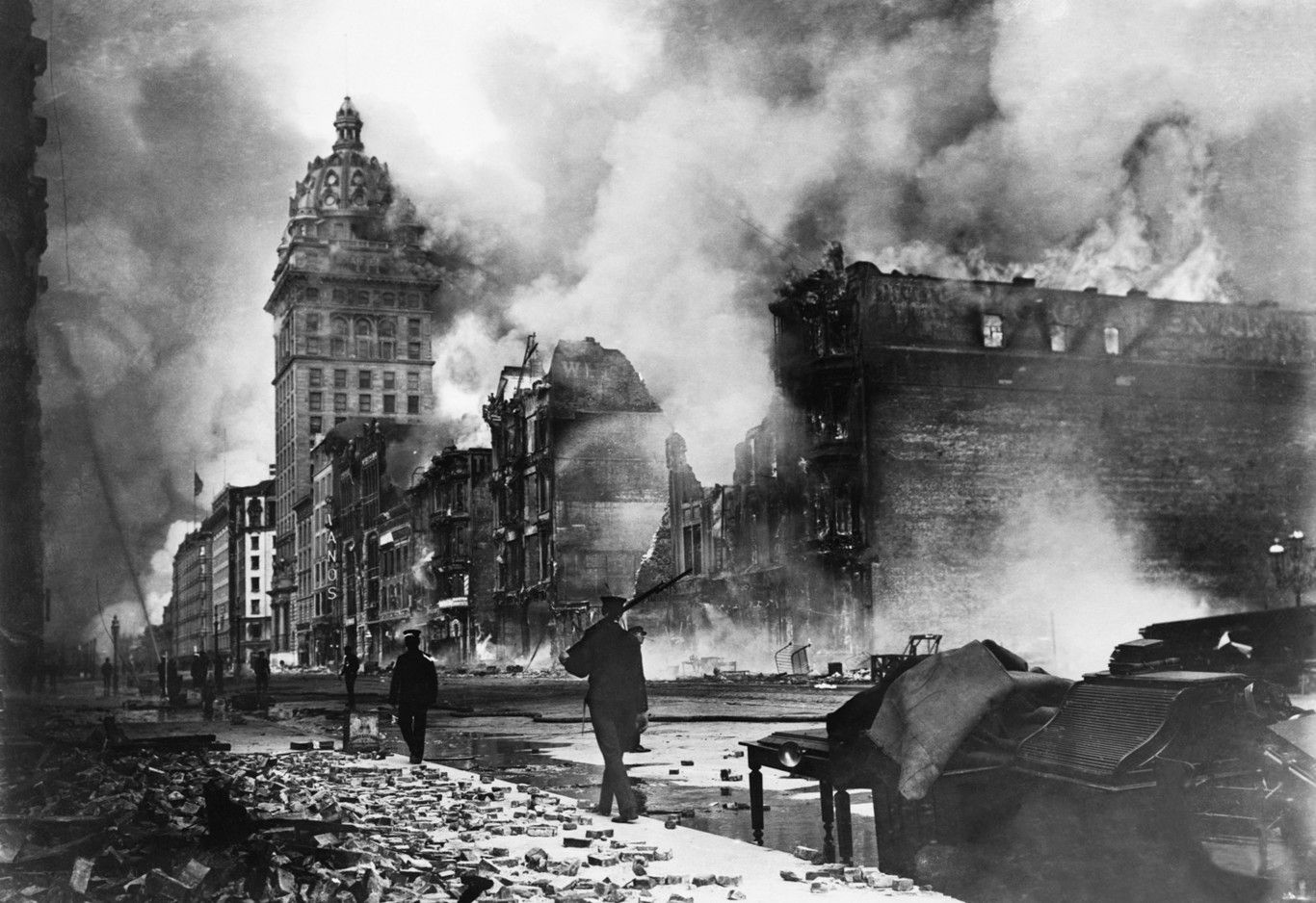 18 de abril de 1906, un terremoto de magnitud 7.8 se produjo en las inmediaciones del centro de la ciudad de San Francisco.