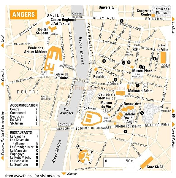 map of Angers France French Fascination Pinterest France