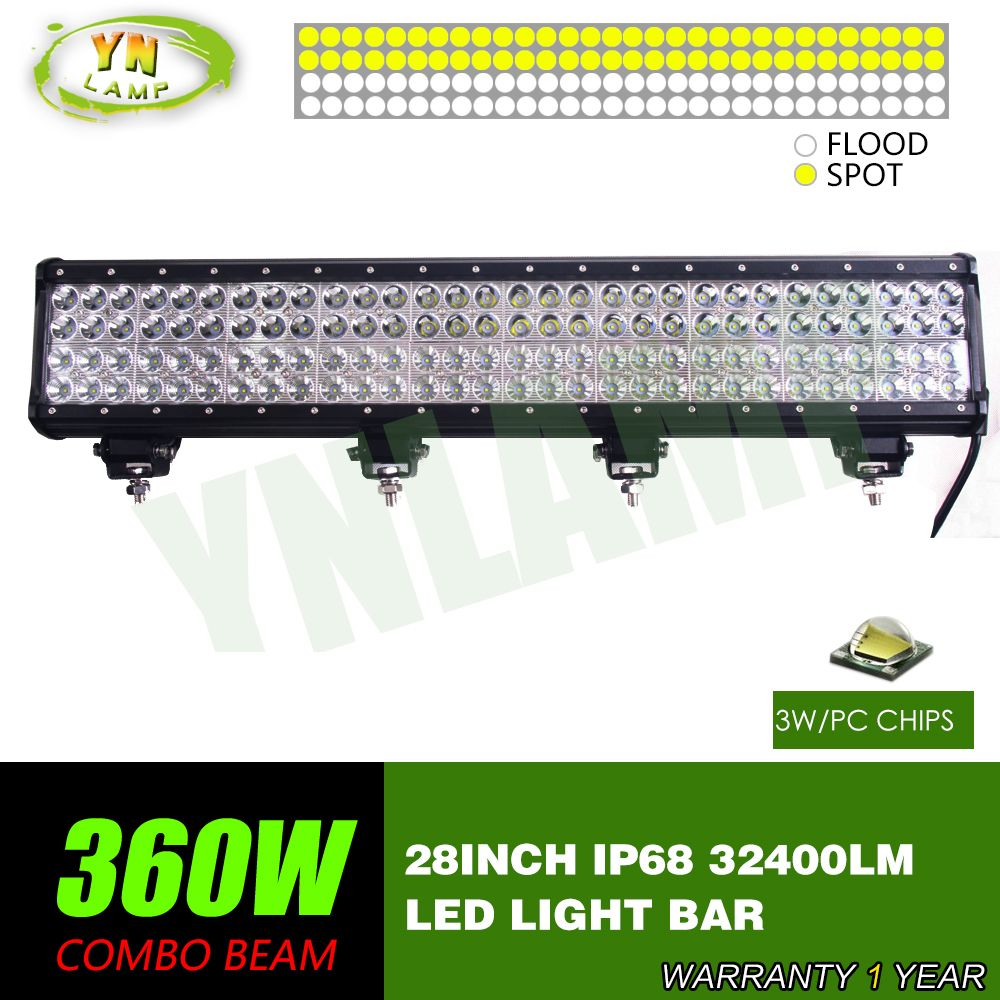 360w 28inch 4rows Led Light Bar work light Driving Offroad Light ...