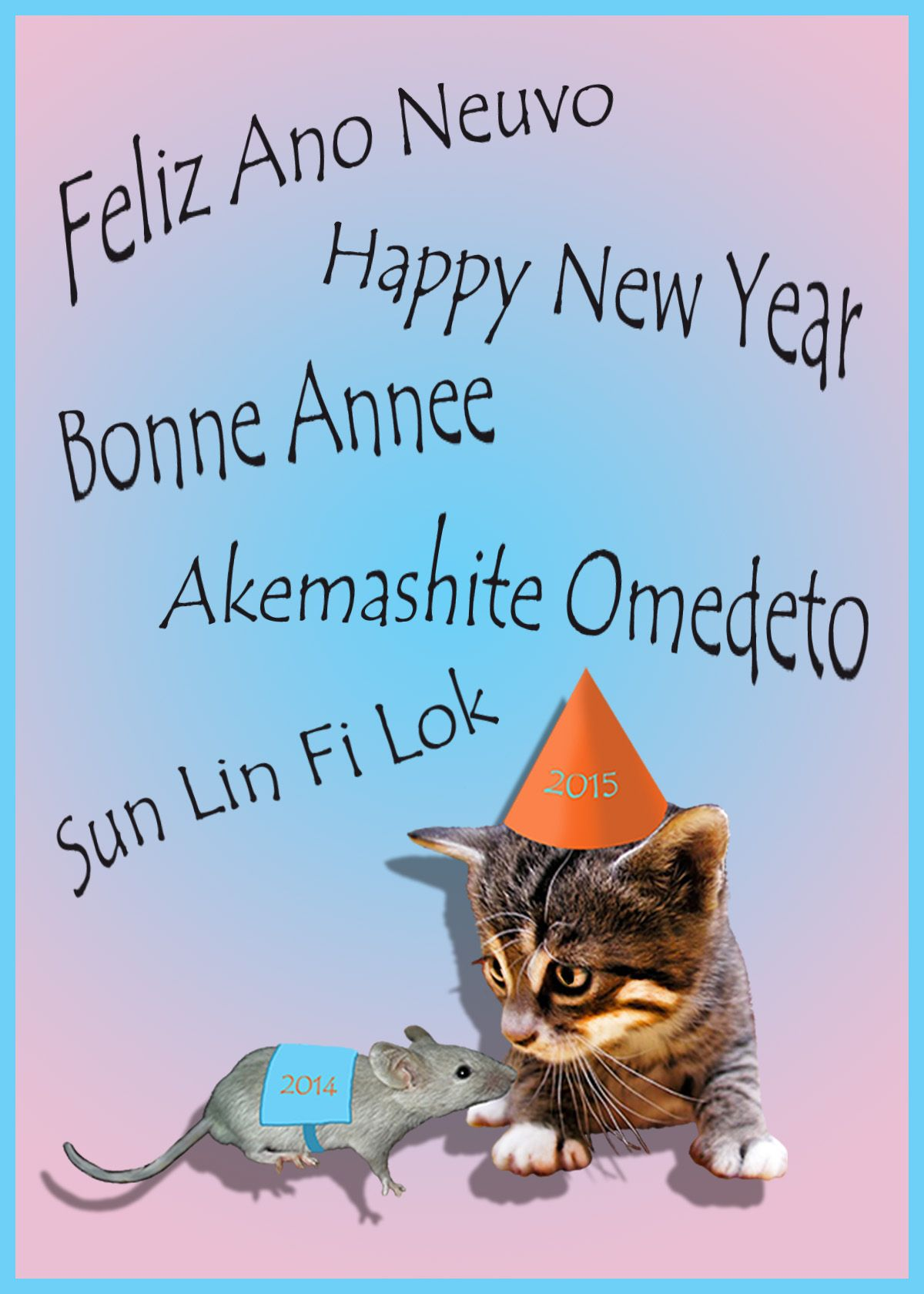 happy new year in spanish language size of this new years card with the greeting in different languages
