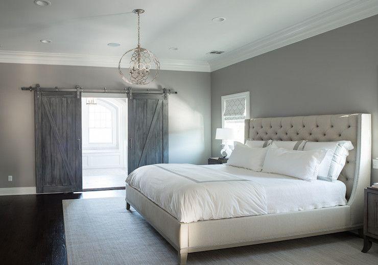 Grey Paint Bedroom Cory Connor Design  Bedrooms  Benjamin Moore  San Antonio Gray .