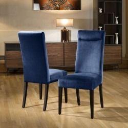 Luxury Made To Order Quatropi Premium High Back Dining Chair X2 Velvet