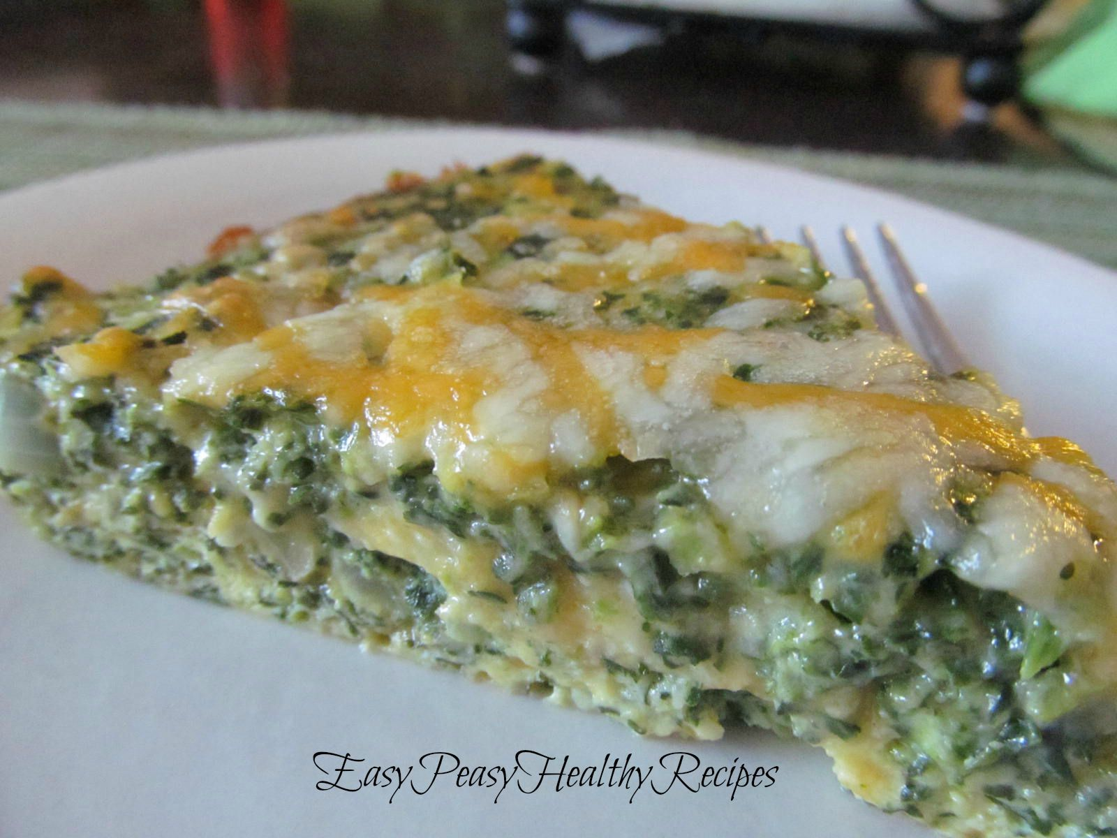 Easy Peasy Healthy Recipes Crustless Spinach Quiche Low Carb And Super Yummy