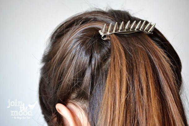 Spiked Hair Barrette / Hebilla De Taches Para El Pelo