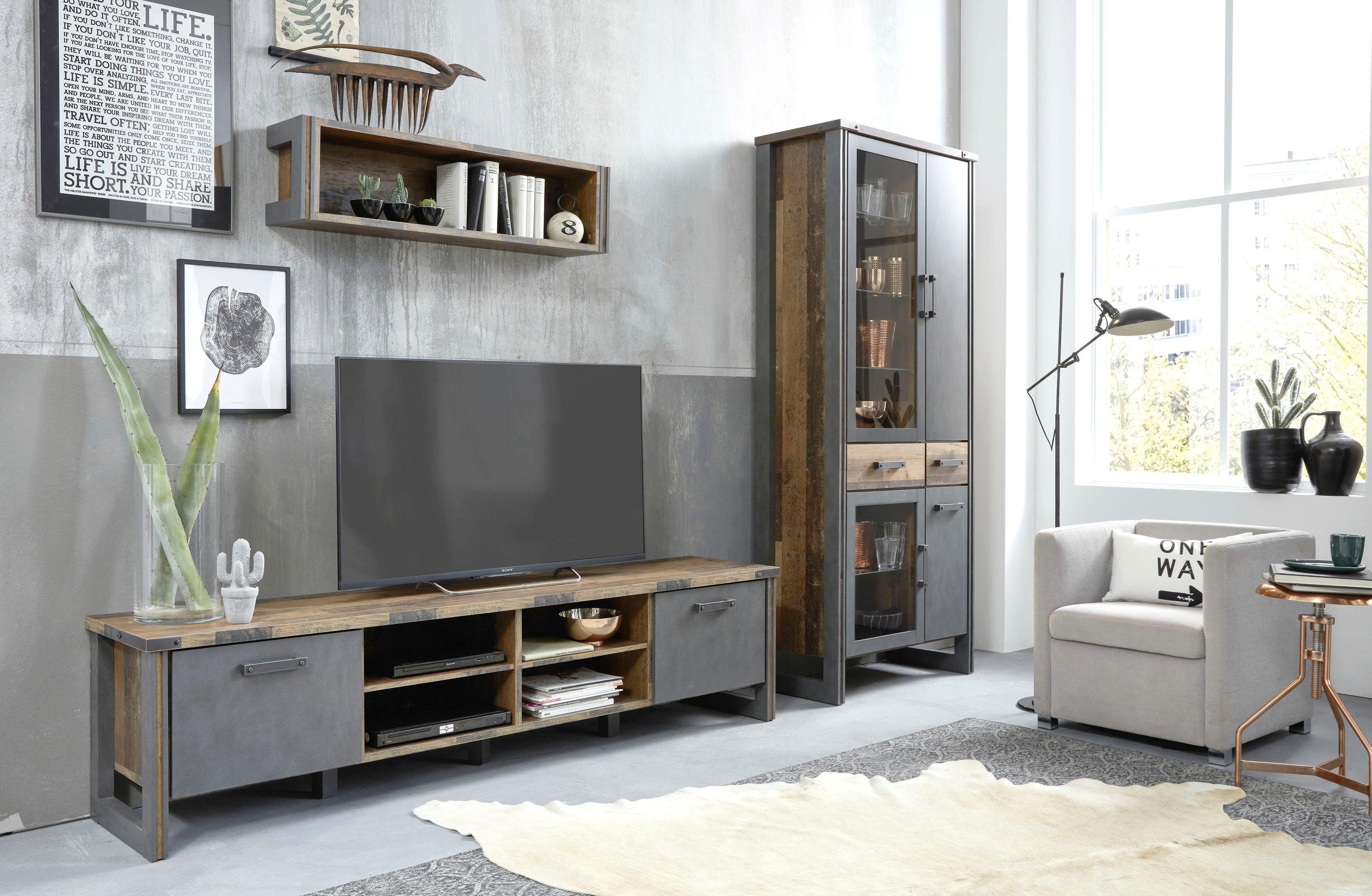 Trendteam Wohnwand Prime Set Konsole Holz Hifi Schrank Und Tv