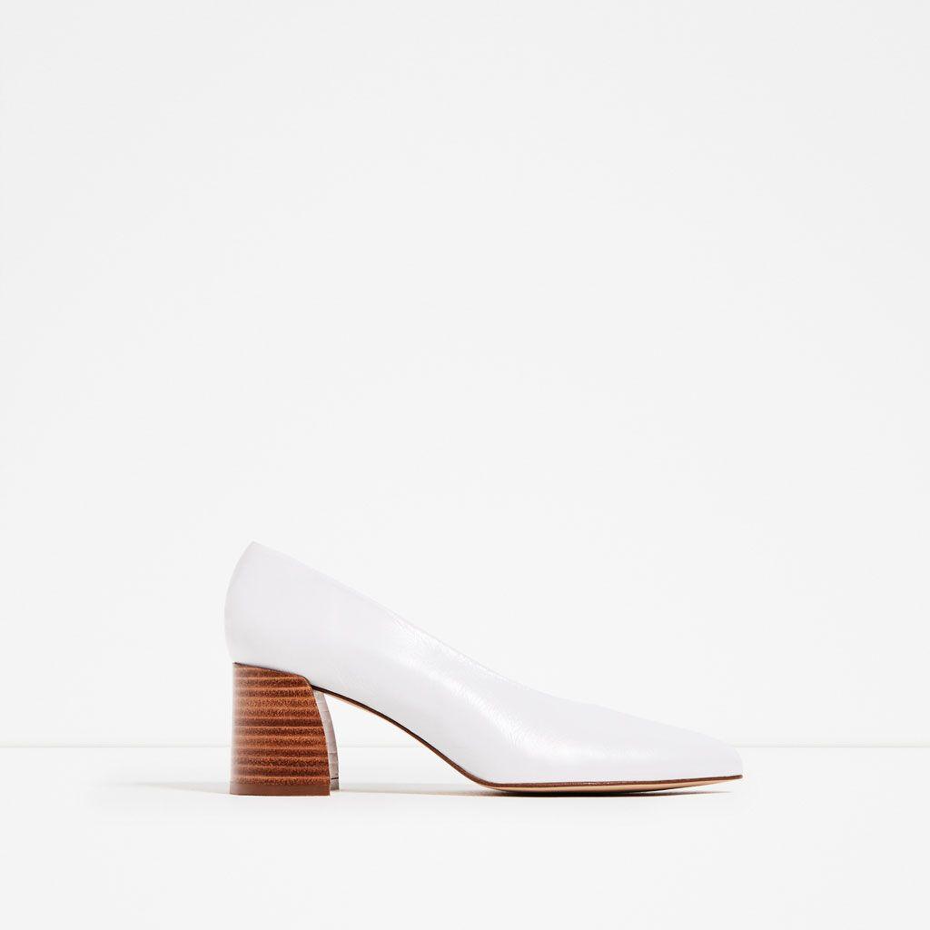 Salão De Shoes Zara Pele Sapato Médio Tacão Mulher Chch CtEE8qO4