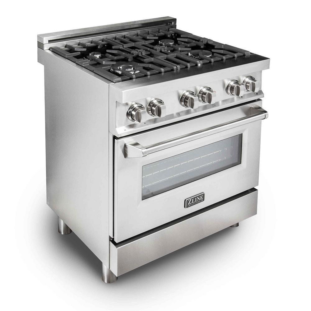 ZLINE Kitchen and Bath Zline 30in. 4.0 cu.ft. Gas Range with 4 Gas ...