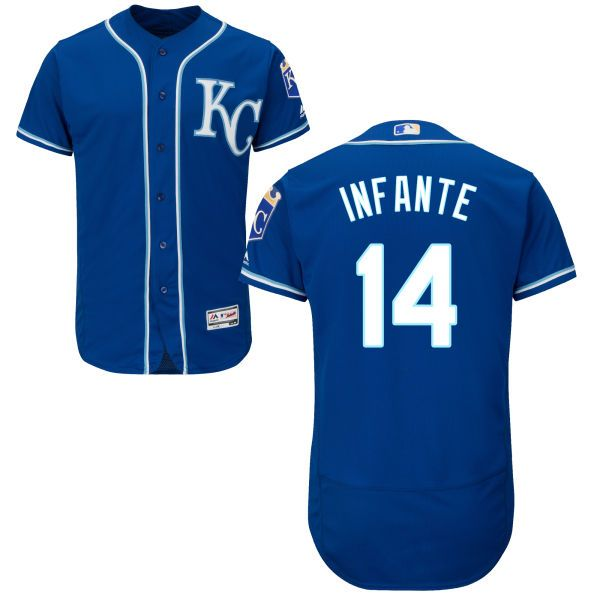Kansas City Royals #14 Omar Infante 2014 Blue Jersey