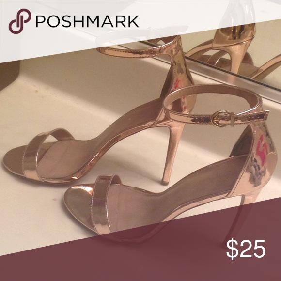 1faeb56780aa Metallic copper heel sandals Used Charlotte Russe Shoes Heels