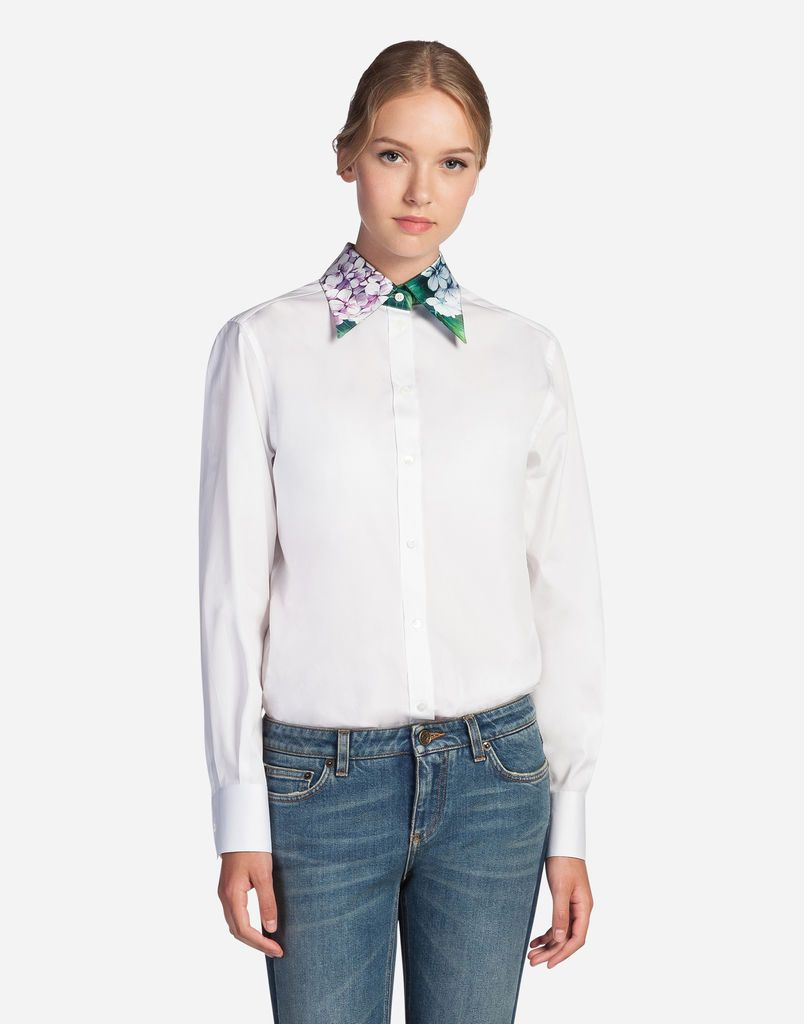 1b7c90a718 SHIRT IN COTTON WITH SILK COLLAR | blouses | Shirts, Collars for ...