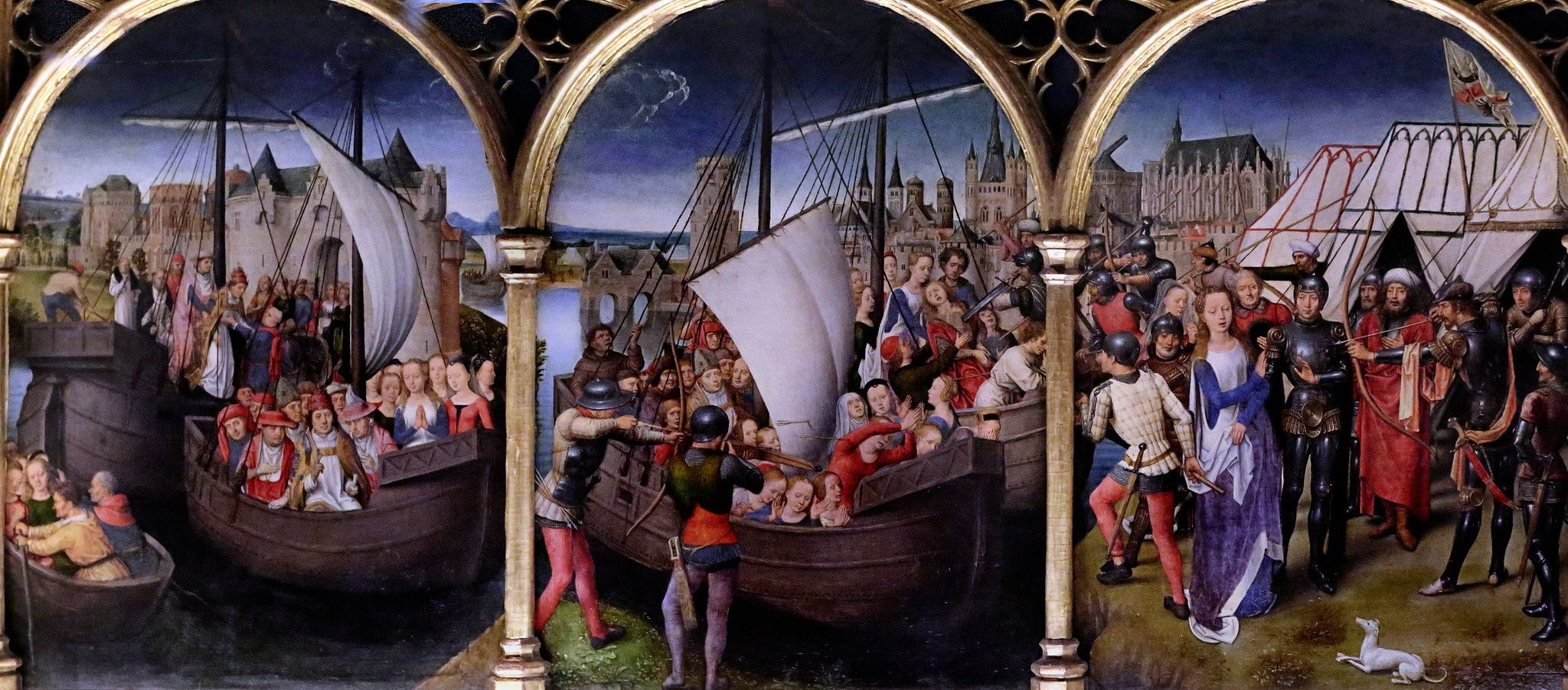 Img 4363a Sainte Ursule Actualisee Holy Ursula Actualized In 2020 Painting Hans Memling Art