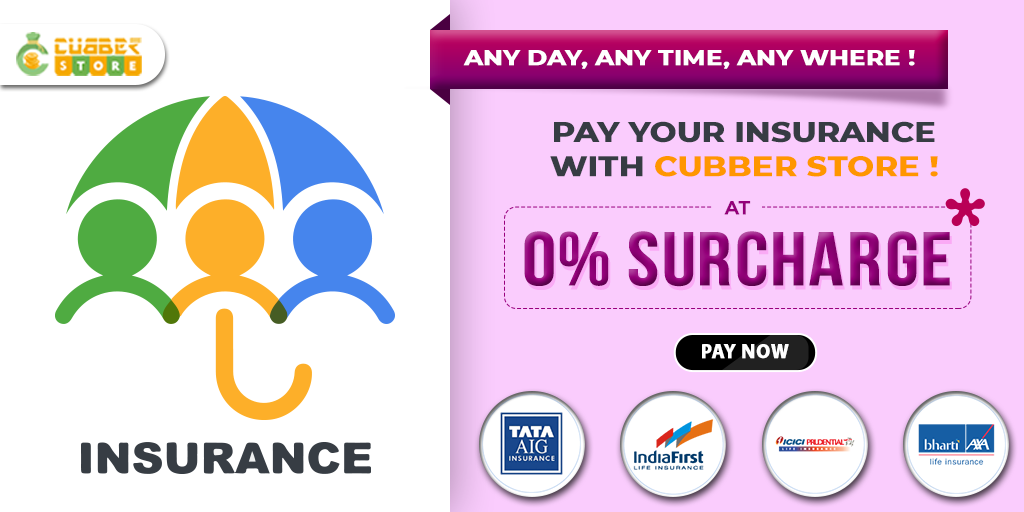 Pay Your Insurance At Cubber Store With 0 Surcharges Start Own Business Electricity Bill Payment Insurance